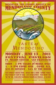 Taste of Mendocino 2011 Flyer