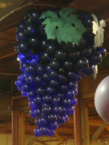 Grape Cluster Balloon Art