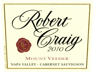 Mount Veeder Cabernet Sauvignon from Robert Craig Winery