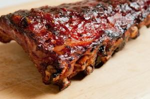 BBQ pork back ribs with sauce