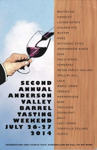 Anderson Valley Barrel Tasting Poster 2014
