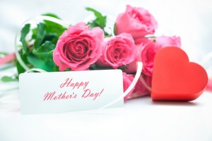 Roses and gift card for Mother's Day