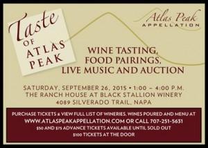 Taste of Atlas Peak Postcard