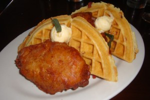 Chicken & Waffles at The Pear