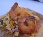 Grilled Prawns with White Corn