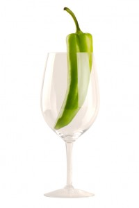 New Mexican Green Chile in Wine Glass