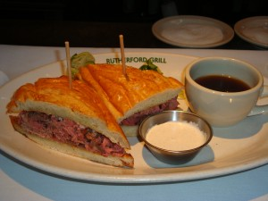 The French Dip Sandwich at Rutherford Grill
