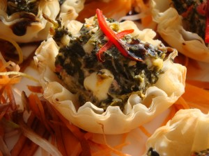 Spinach and Feta Tartlet