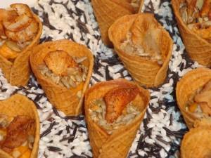 Moroccan Spiced Waffle Cones