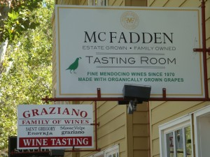 Graziano and McFadden Tasting Rooms