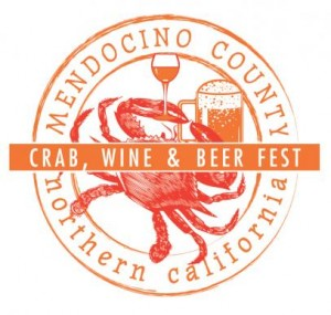 Mendocino County Crab, WIne and Beer Festival Logo