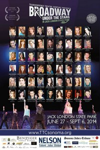 2014 Cast Poster Broadway Under the Stars