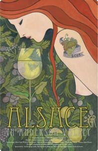 2015 International Alsace Varietals Festival Poster