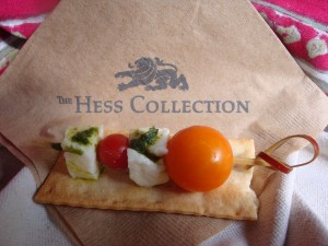 Caprese Skewers at Hess Collection