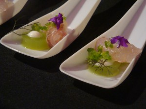 Cured Snapper with Green Bell Pepper Gelée