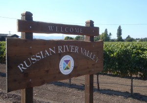 Welcome Sign Russian River Valley