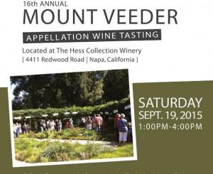 Mount Veeder Appellation Wine Tasting Postcard