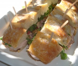 Roasted Pork Sandwich at Napa Valley's Mt Veeder tasting