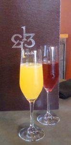 Mimosas at 1313 Main, a Mothers Day Brunch Napa option