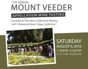 2016 Mount Veeder Appellation Wine Tasting