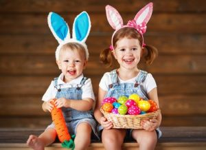 Kids ready for Easter in Napa Valley
