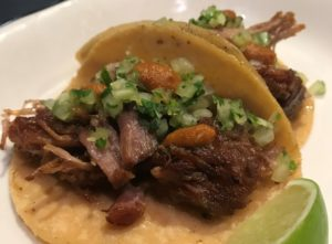 Carnitas Tacos at Gran/Eléctrica, a downtown Napa Happy Hour option