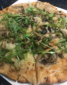 Mushroom Flatbread at Carpe Diem, a downtown Napa Happy Hour special