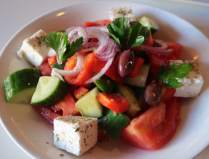 Greek Salad at Tarla, a downtown Napa Happy Hour option
