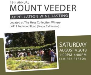 2018 Taste of Mount Veeder wine tasting