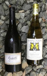 Marketta and Mayacamas Chardonnays at the 2017 Taste of Mount Veeder event