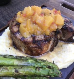 Grilled Pork Chop at ALBA, a Napa Valley Restaurant Week offering