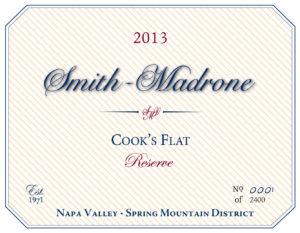 2013 Cook's Flat Reserve label