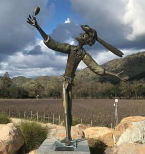"""The Greeter"" at Stag's Leap Wine Cellars"