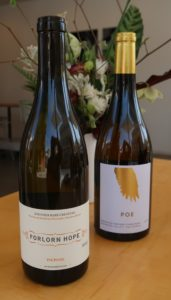 Forlorn Hope Picpoul and POE Wines Ferrington Vineyard Chardonnay