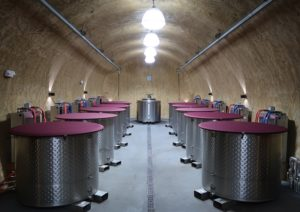 Fermentation Tanks at Porter Family Vineyards
