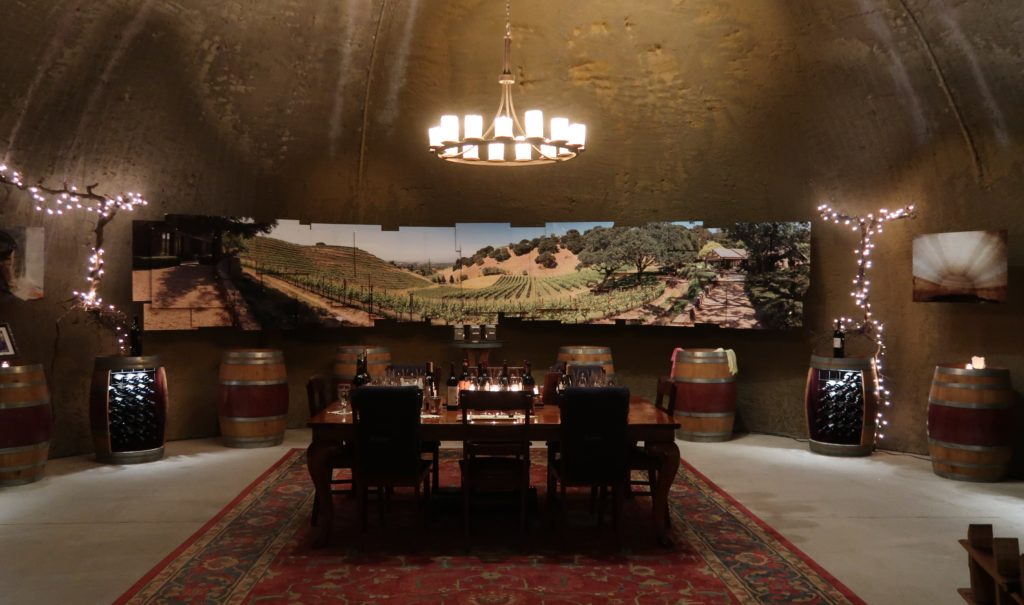 Tasting in the Caves at Porter Family Vineyards