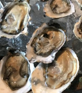 Oysters, a small plate at the 2019 Wine & Spirits Top 100 Tasting