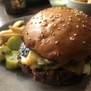 Burger from Compline, a Napa Restaurant
