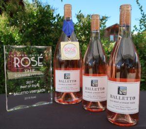 Balletto Vineyards 2018 Rosé of Pinot Noir, another California Rosé